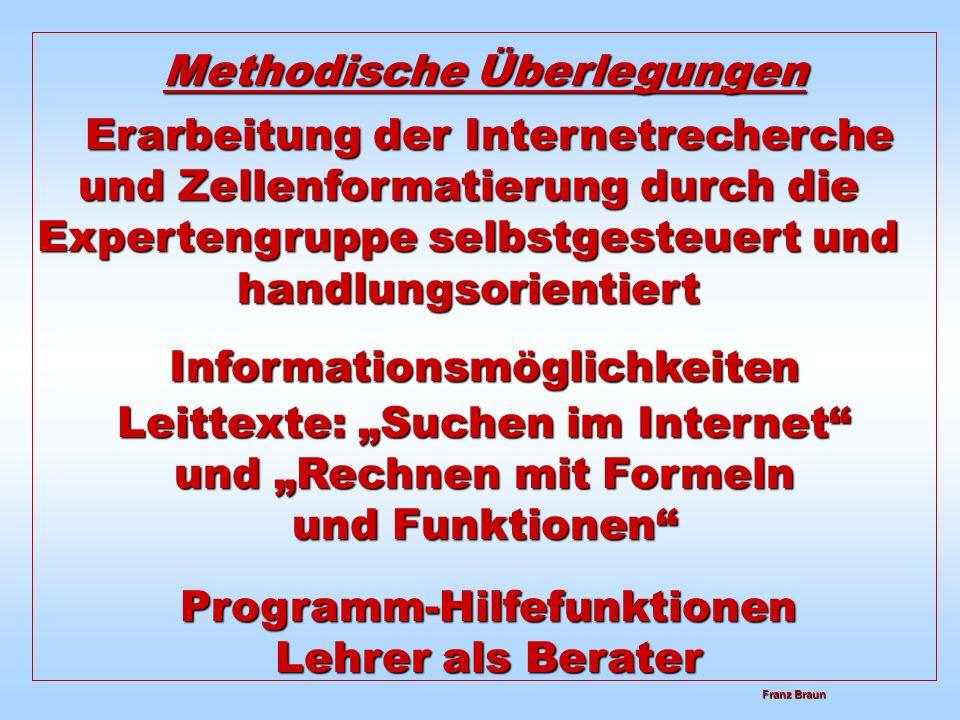 Methodische Überlegungen