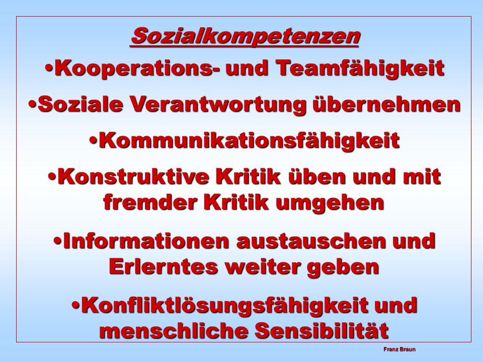 Kooperations- und Teamfähigkeit