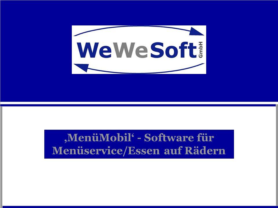 'MenüMobil' - Software für Menüservice/Essen auf Rädern