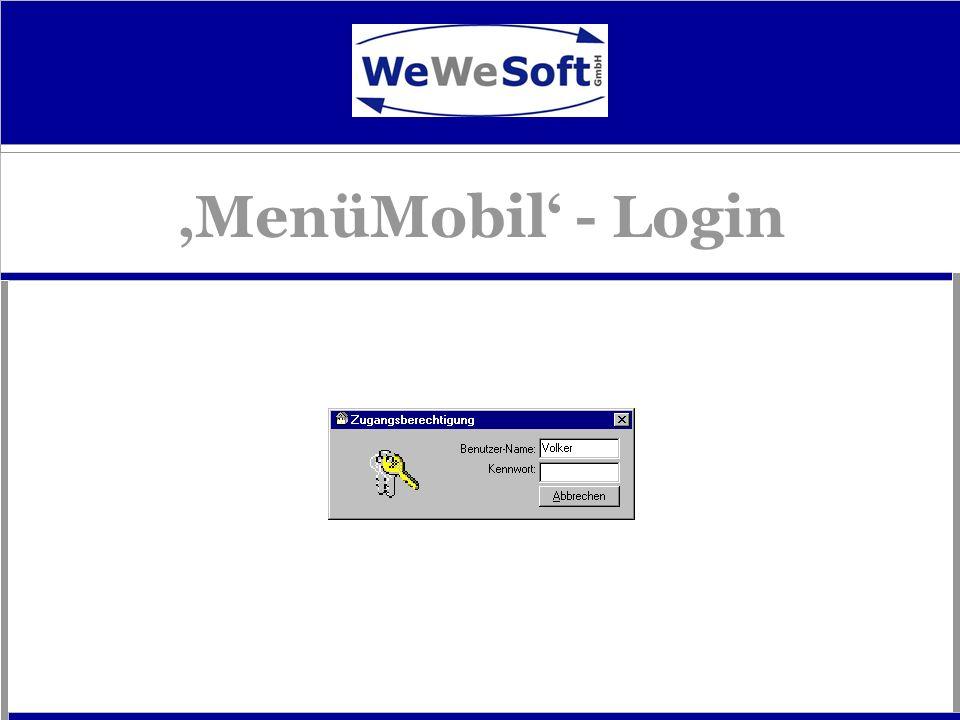 'MenüMobil' - Login