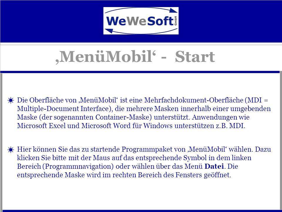 'MenüMobil' - Start