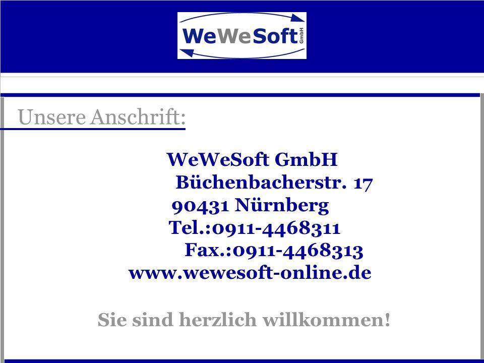 WeWeSoft GmbH Büchenbacherstr. 17