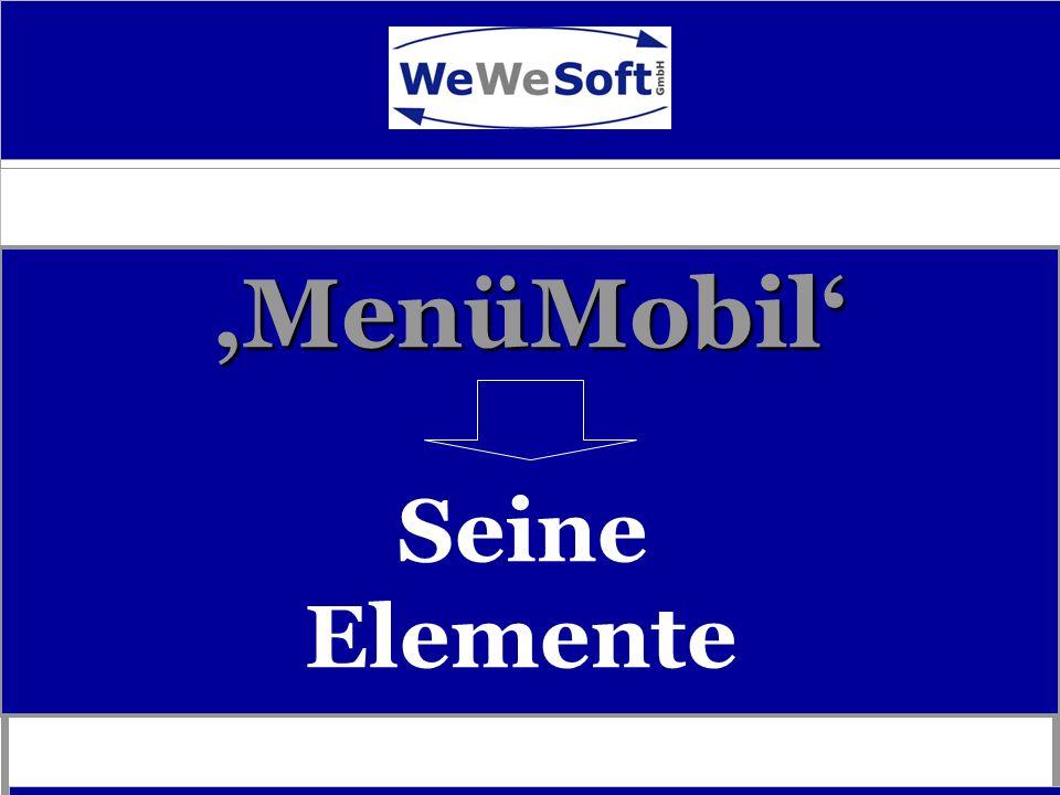 'MenüMobil' Seine Elemente