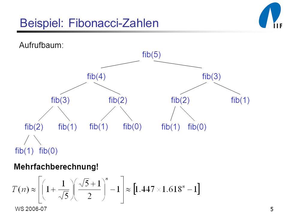 Beispiel: Fibonacci-Zahlen