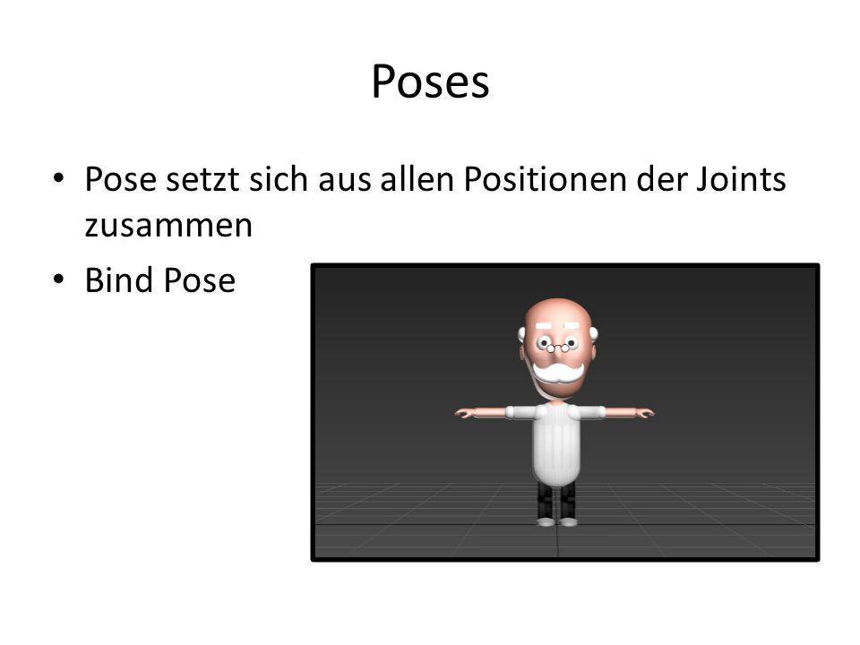 Poses Pose setzt sich aus allen Positionen der Joints zusammen