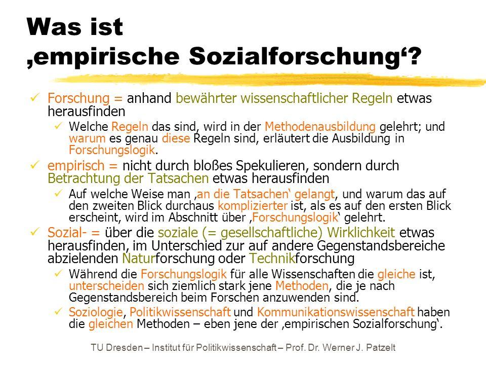 Was ist 'empirische Sozialforschung'