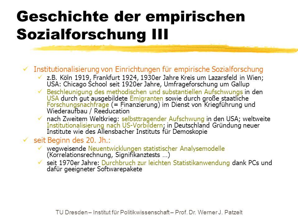Geschichte der empirischen Sozialforschung III