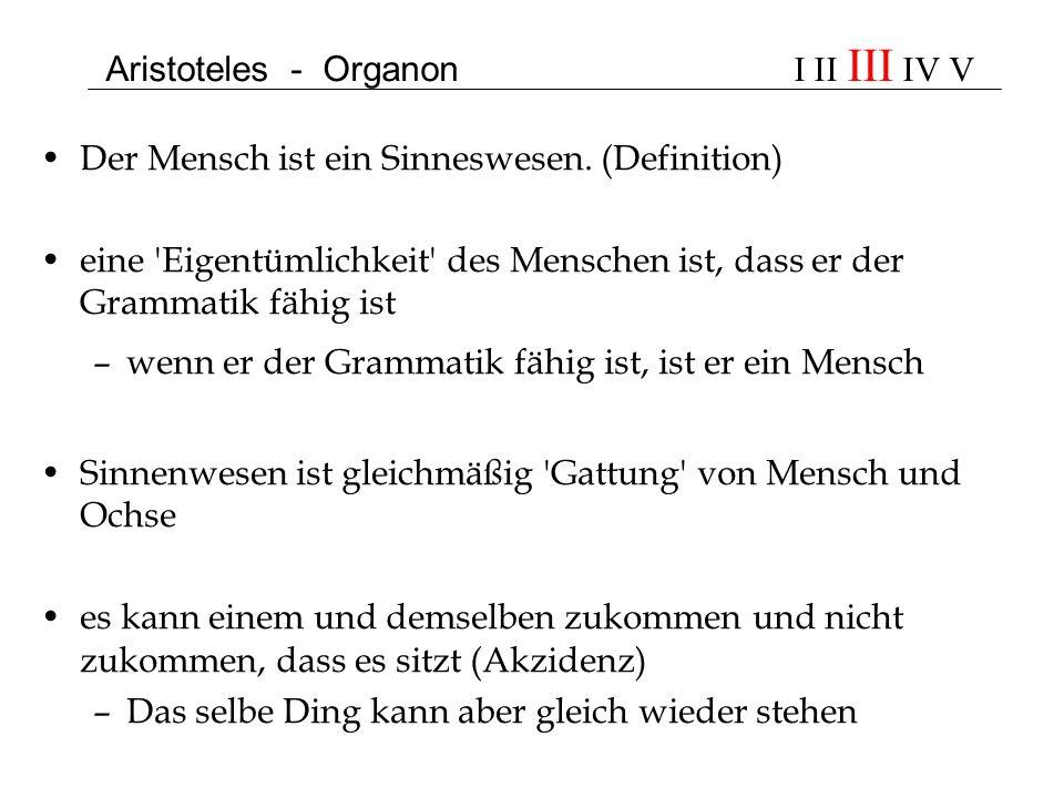 Aristoteles - Organon I II III IV V