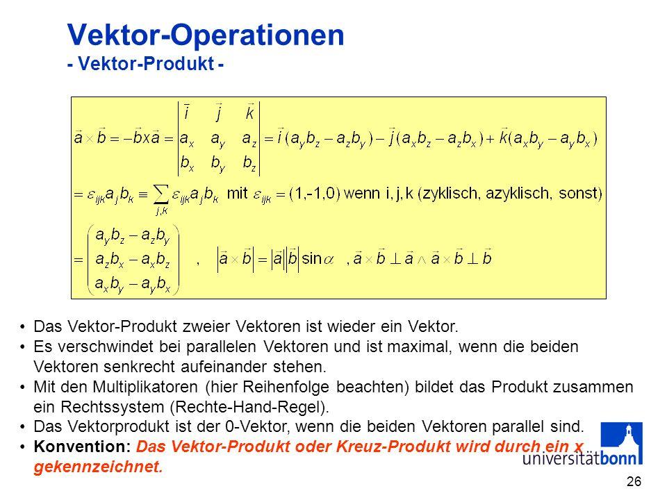 Vektor-Operationen - Vektor-Produkt -