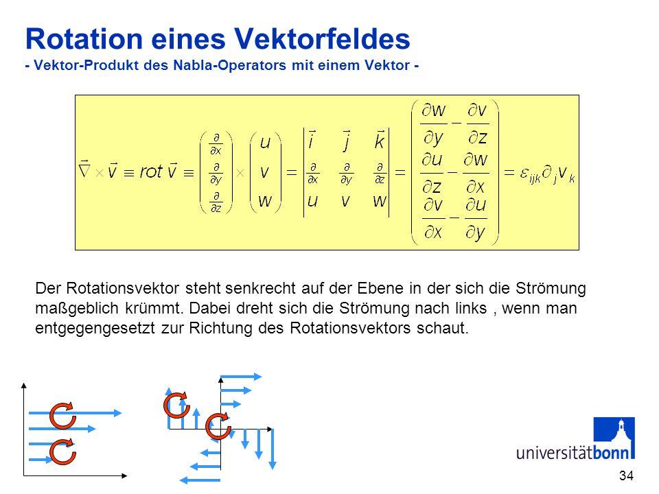 Rotation eines Vektorfeldes - Vektor-Produkt des Nabla-Operators mit einem Vektor -