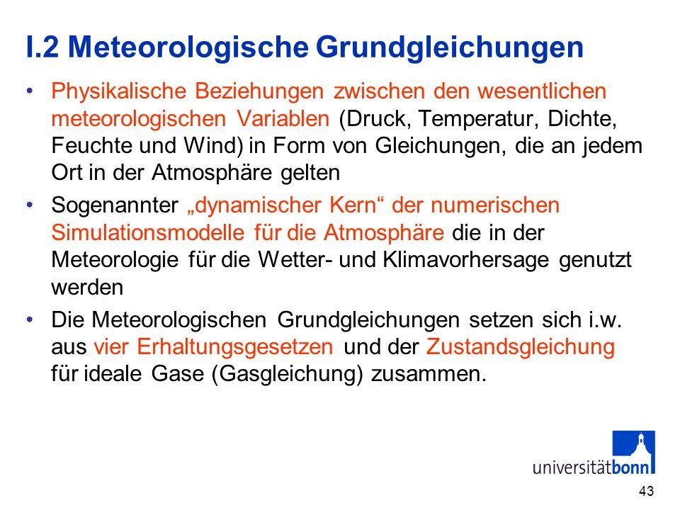 I.2 Meteorologische Grundgleichungen