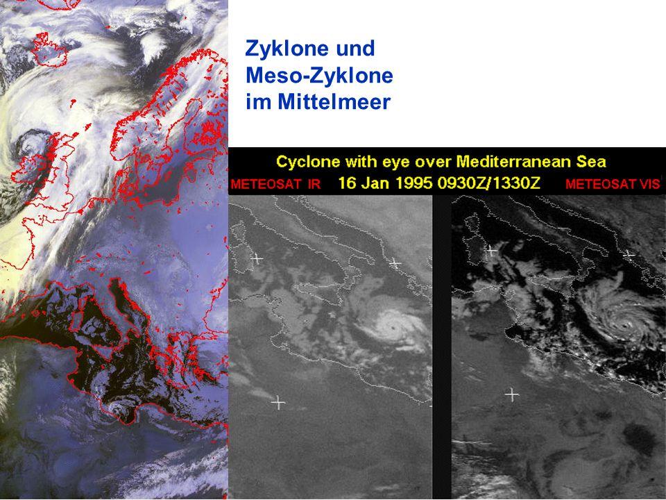 Zyklone und Meso-Zyklone im Mittelmeer