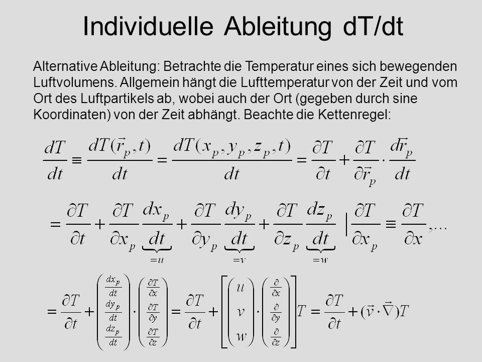 Individuelle Ableitung dT/dt