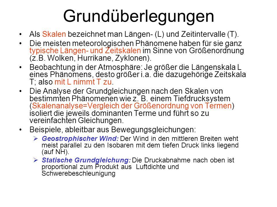 Grundüberlegungen Als Skalen bezeichnet man Längen- (L) und Zeitintervalle (T).