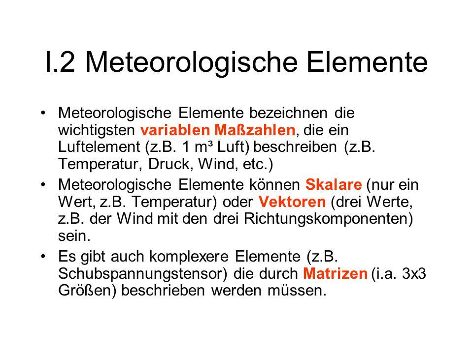 I.2 Meteorologische Elemente