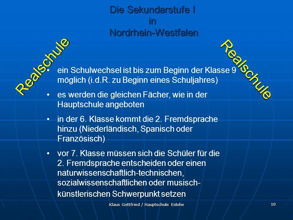 Realschule Realschule Die Sekundarstufe I in Nordrhein-Westfalen