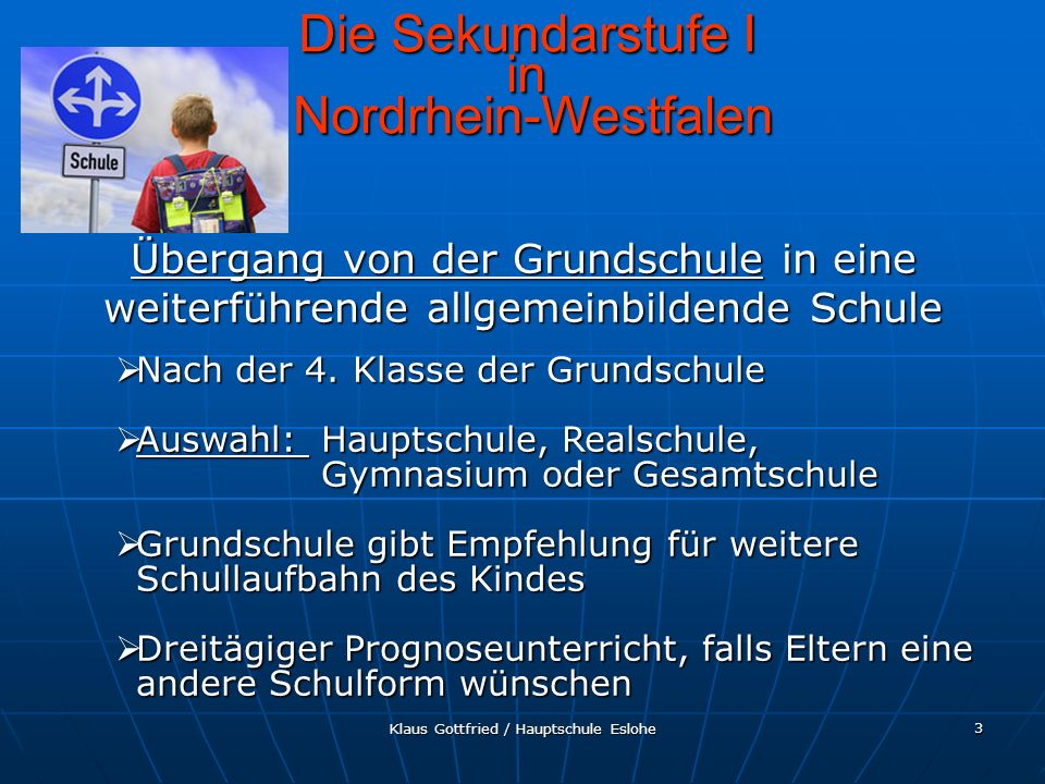 Die Sekundarstufe I in Nordrhein-Westfalen