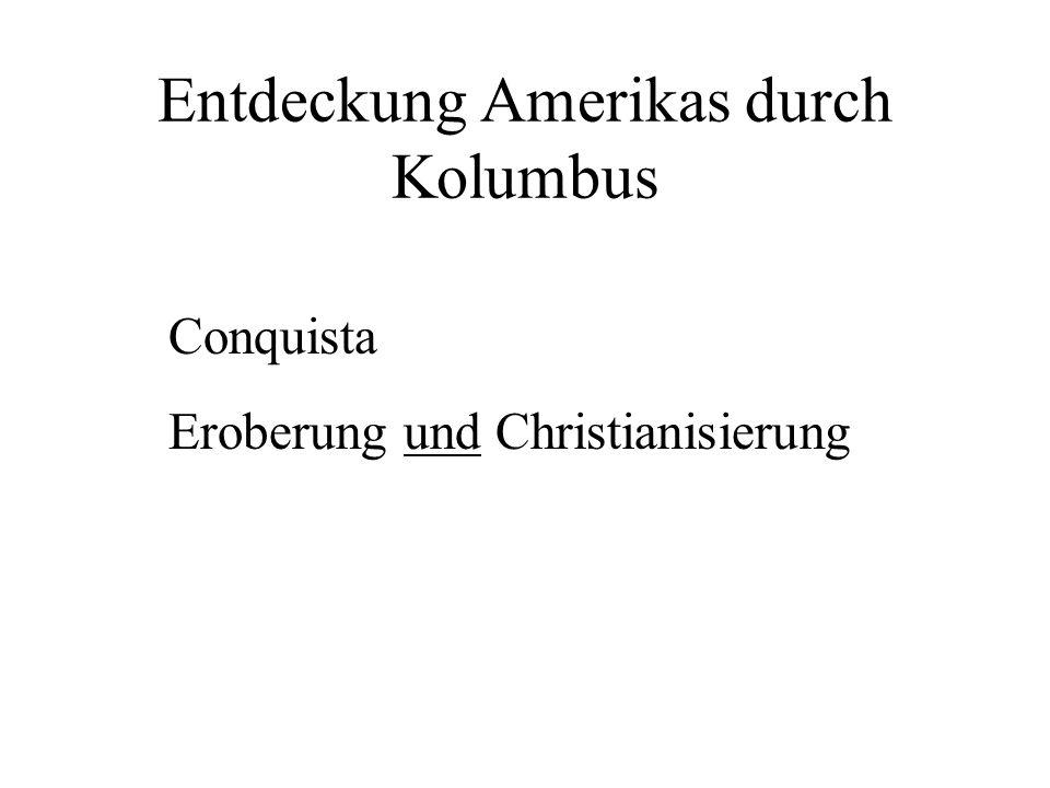 Entdeckung Amerikas durch Kolumbus
