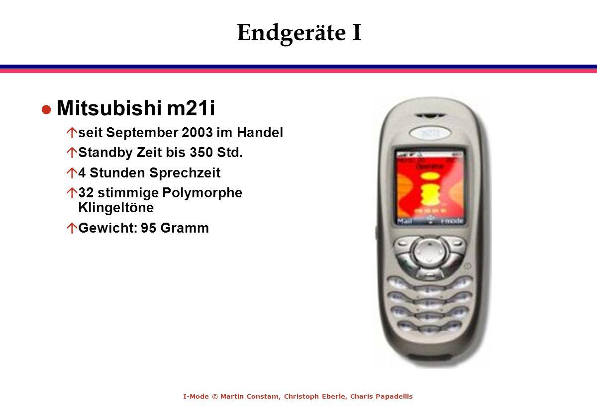 Endgeräte I Mitsubishi m21i seit September 2003 im Handel
