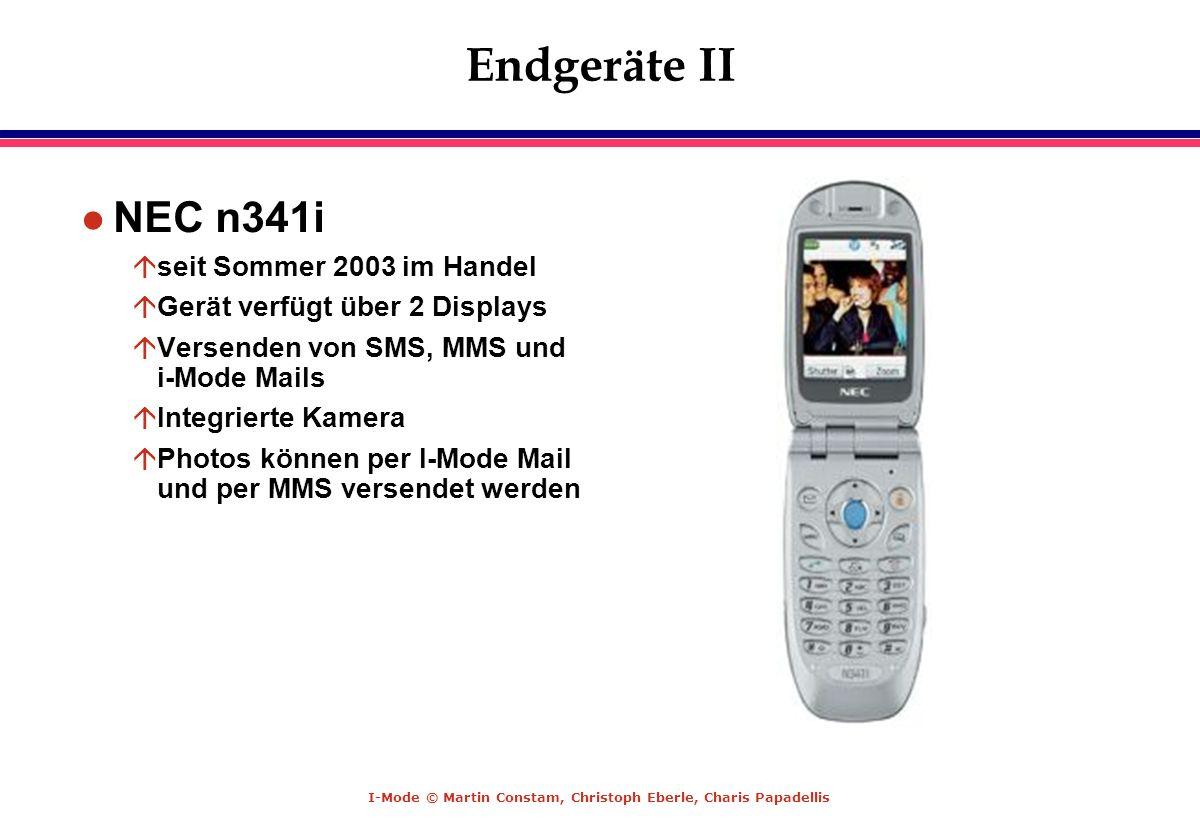 Endgeräte II NEC n341i seit Sommer 2003 im Handel