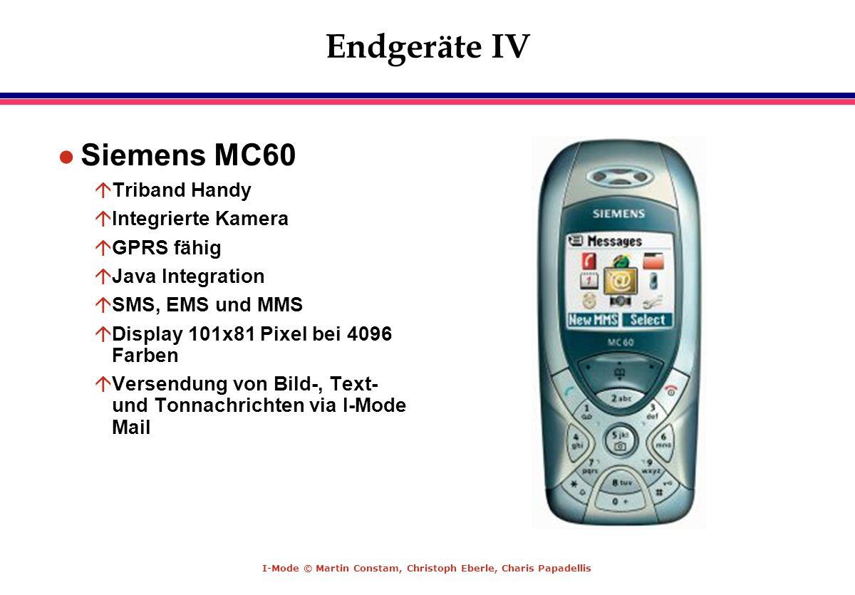 Endgeräte IV Siemens MC60 Triband Handy Integrierte Kamera GPRS fähig