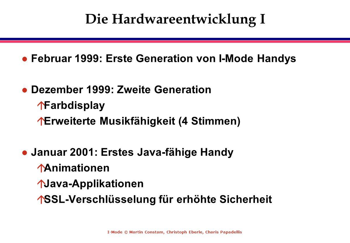 Die Hardwareentwicklung I