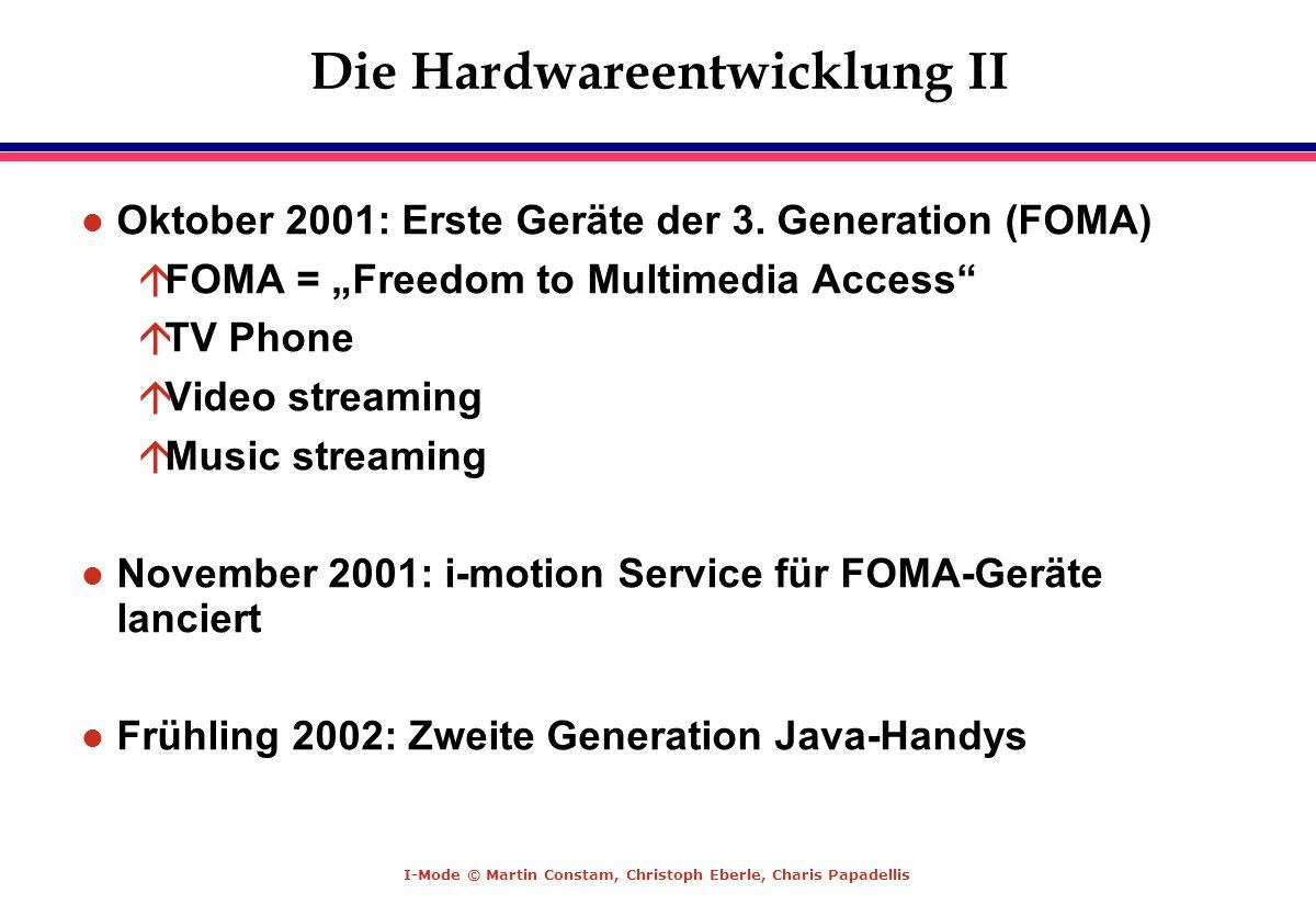 Die Hardwareentwicklung II