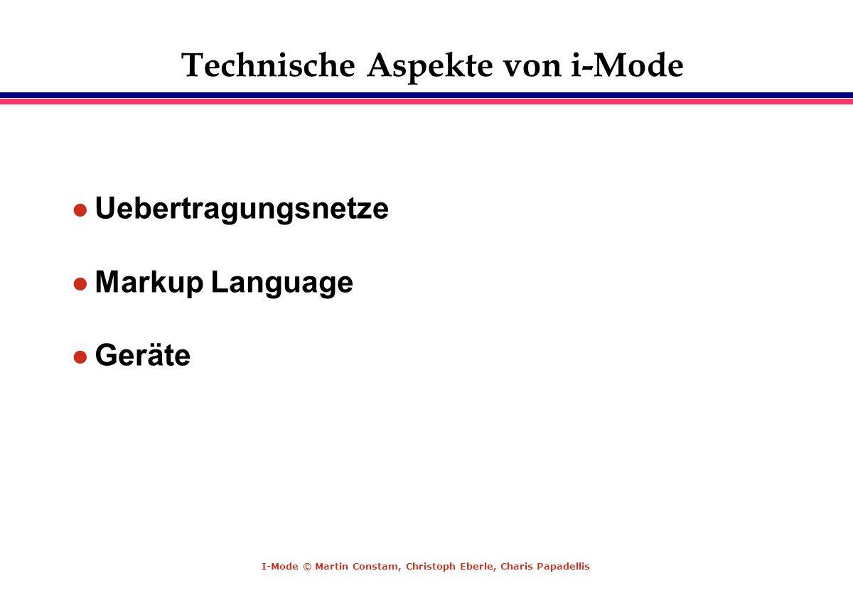 Technische Aspekte von i-Mode