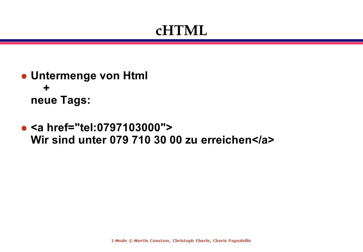 cHTML Untermenge von Html + neue Tags: