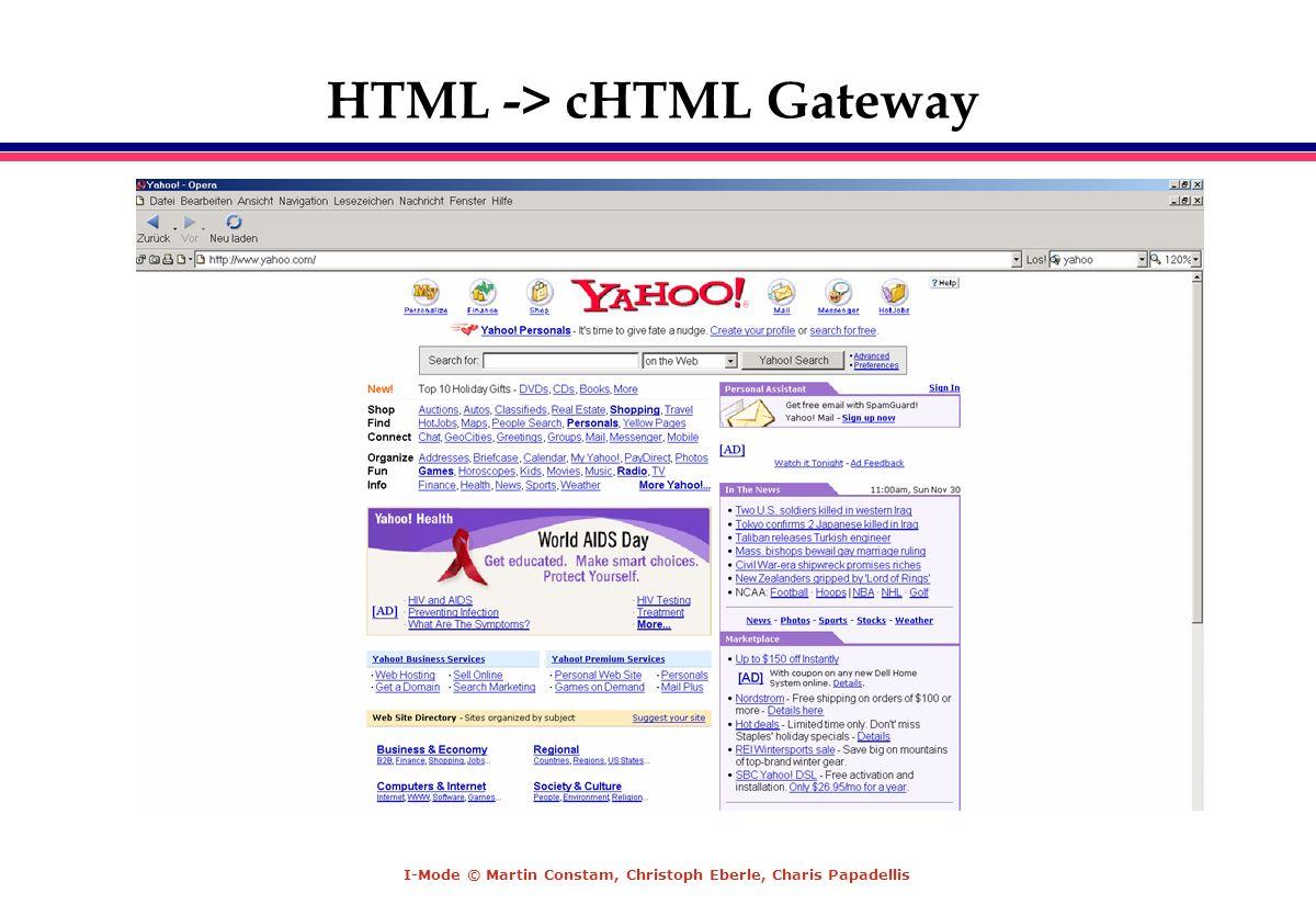 HTML -> cHTML Gateway