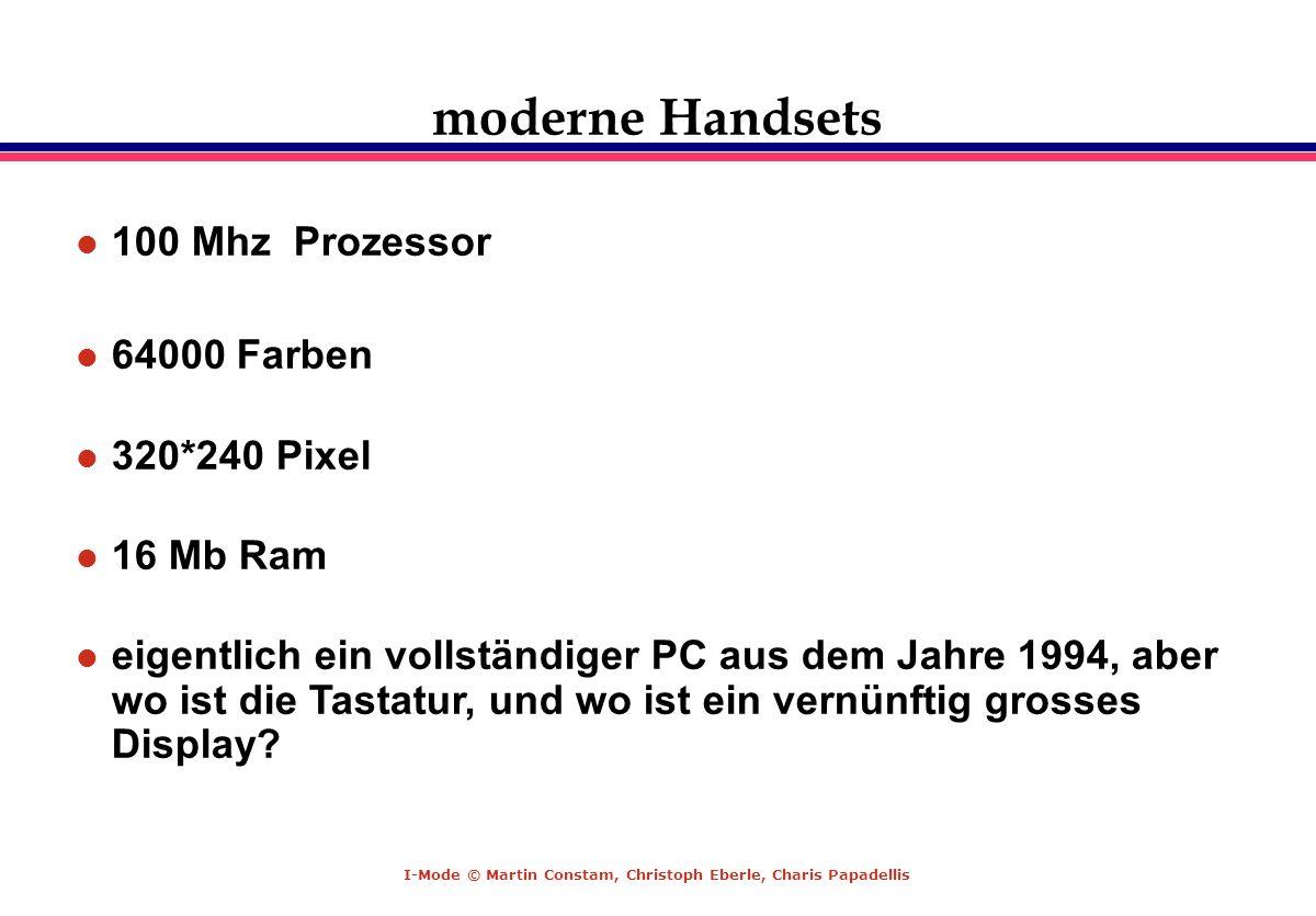 moderne Handsets 100 Mhz Prozessor 64000 Farben 320*240 Pixel