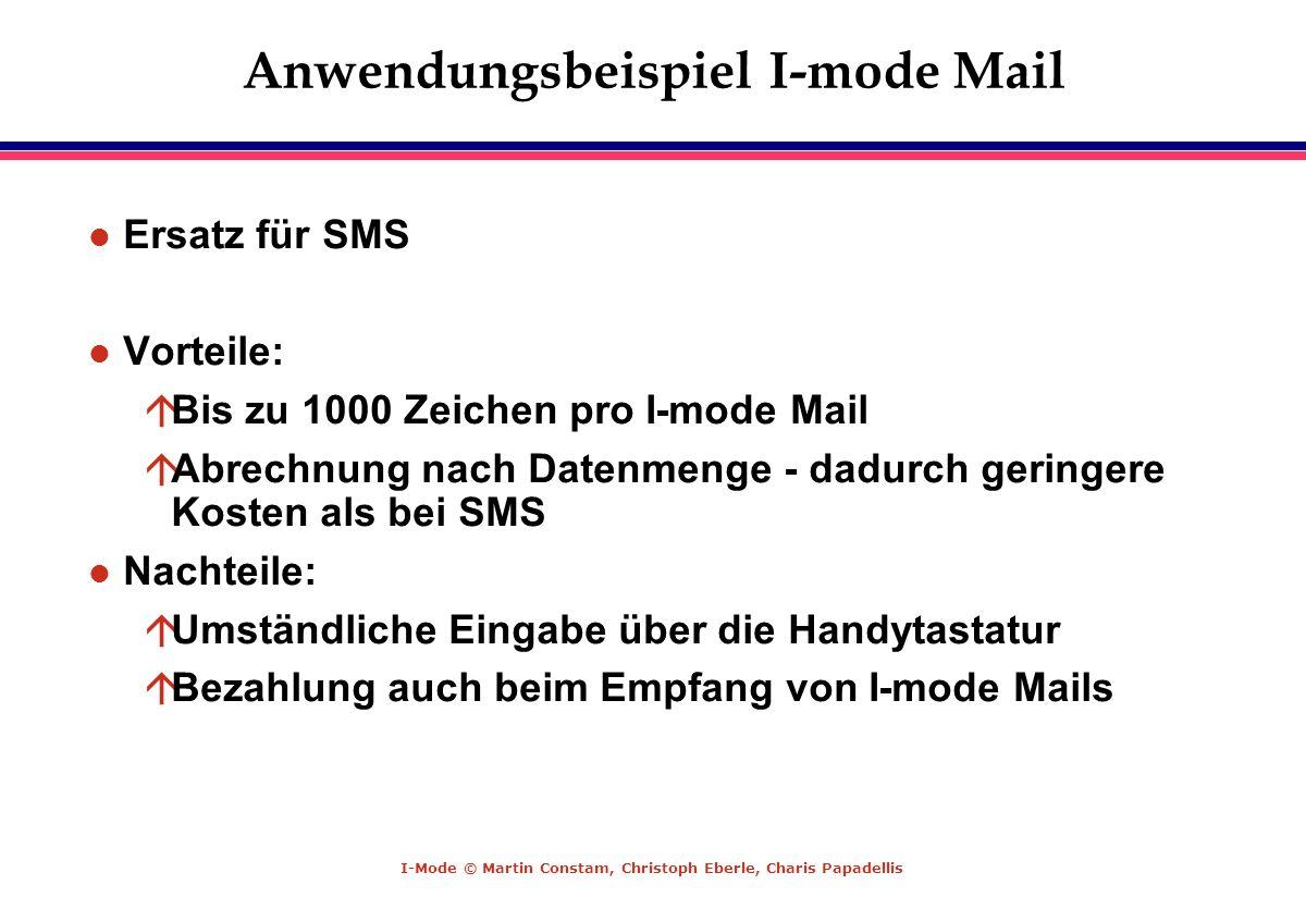 Anwendungsbeispiel I-mode Mail