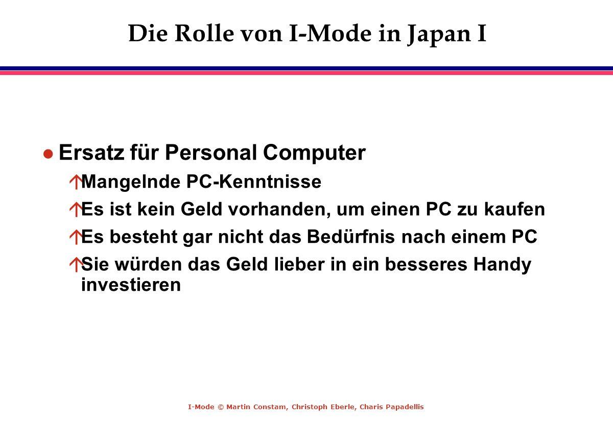Die Rolle von I-Mode in Japan I