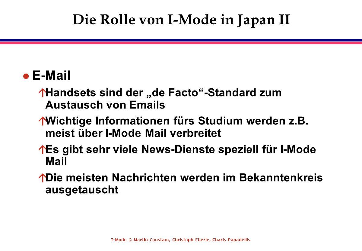 Die Rolle von I-Mode in Japan II