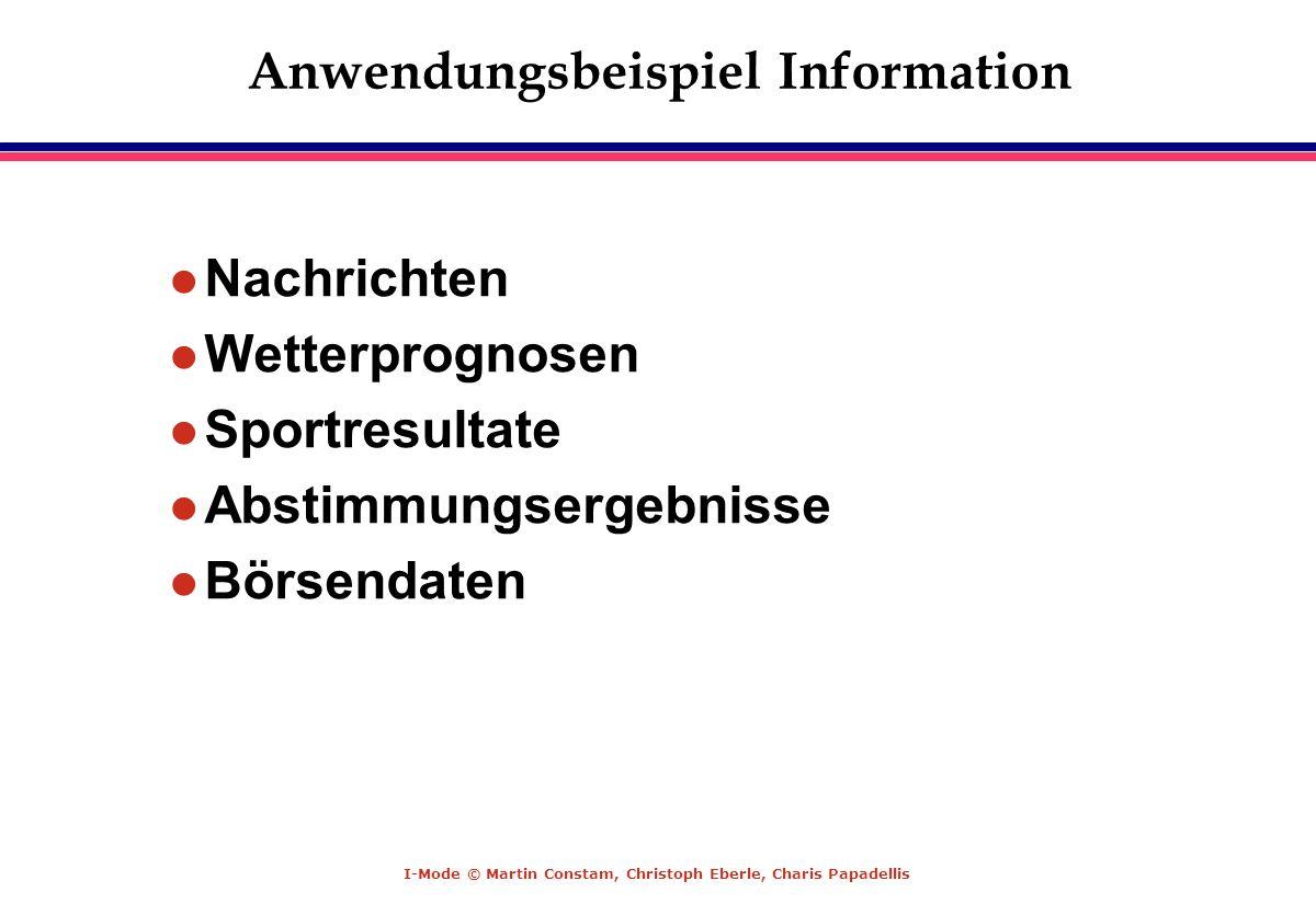 Anwendungsbeispiel Information