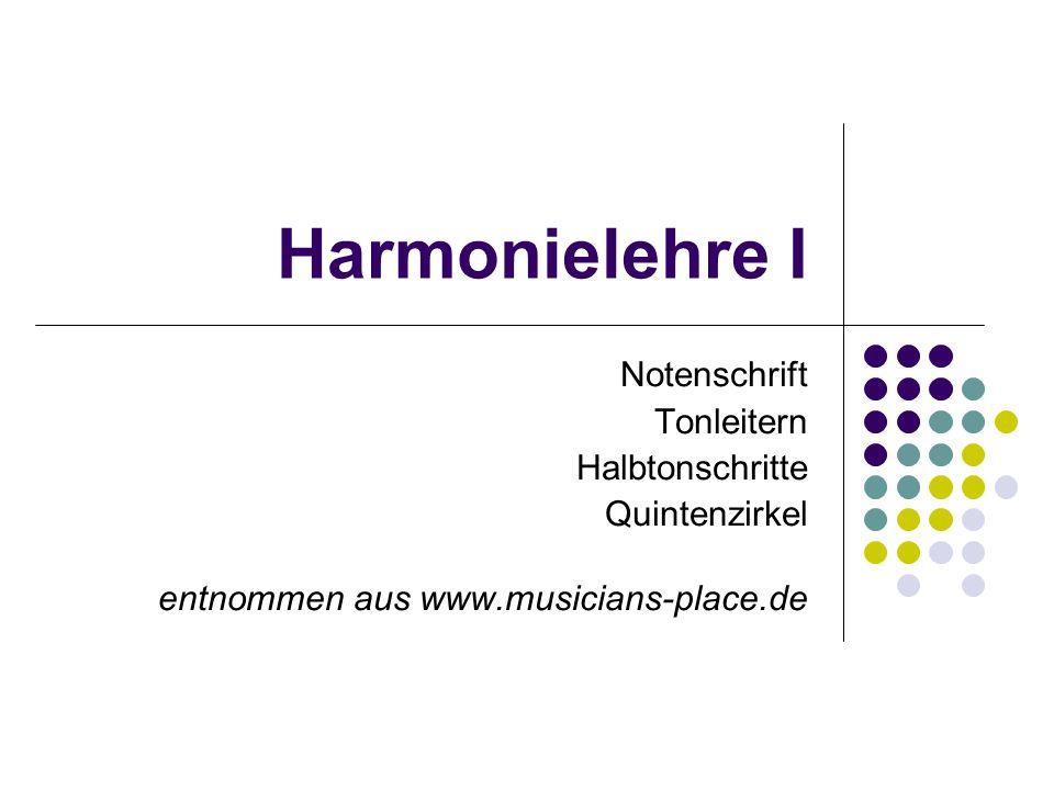 Harmonielehre I Notenschrift Tonleitern Halbtonschritte Quintenzirkel