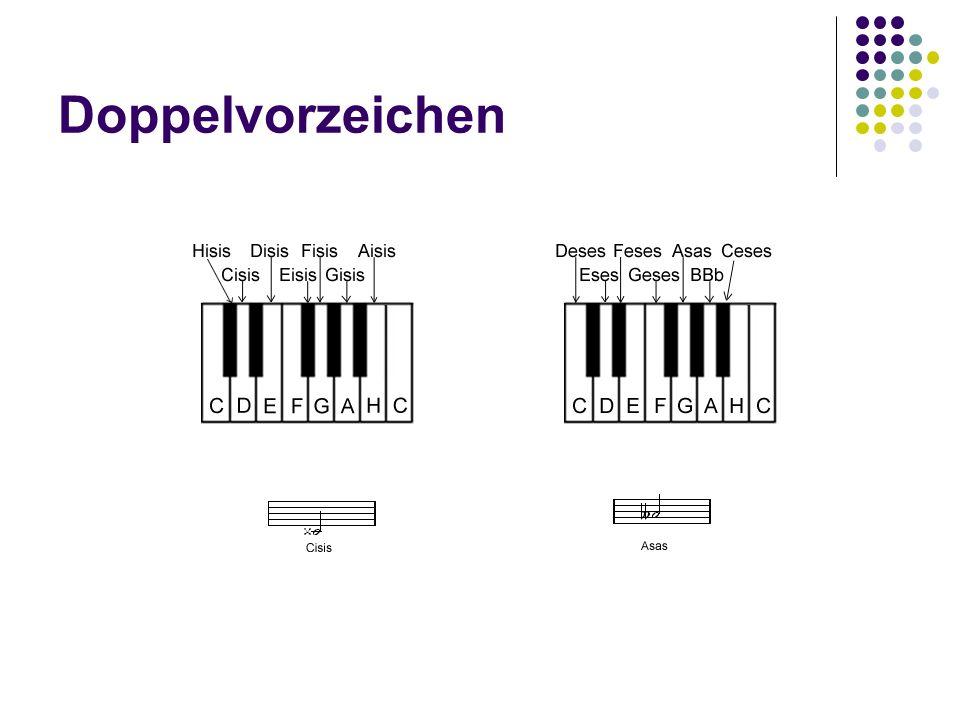 Doppelvorzeichen Harmonielehre I