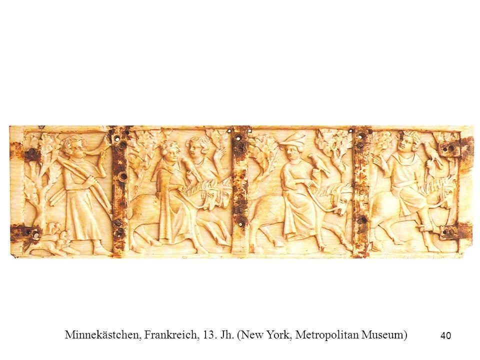 Minnekästchen, Frankreich, 13. Jh. (New York, Metropolitan Museum)