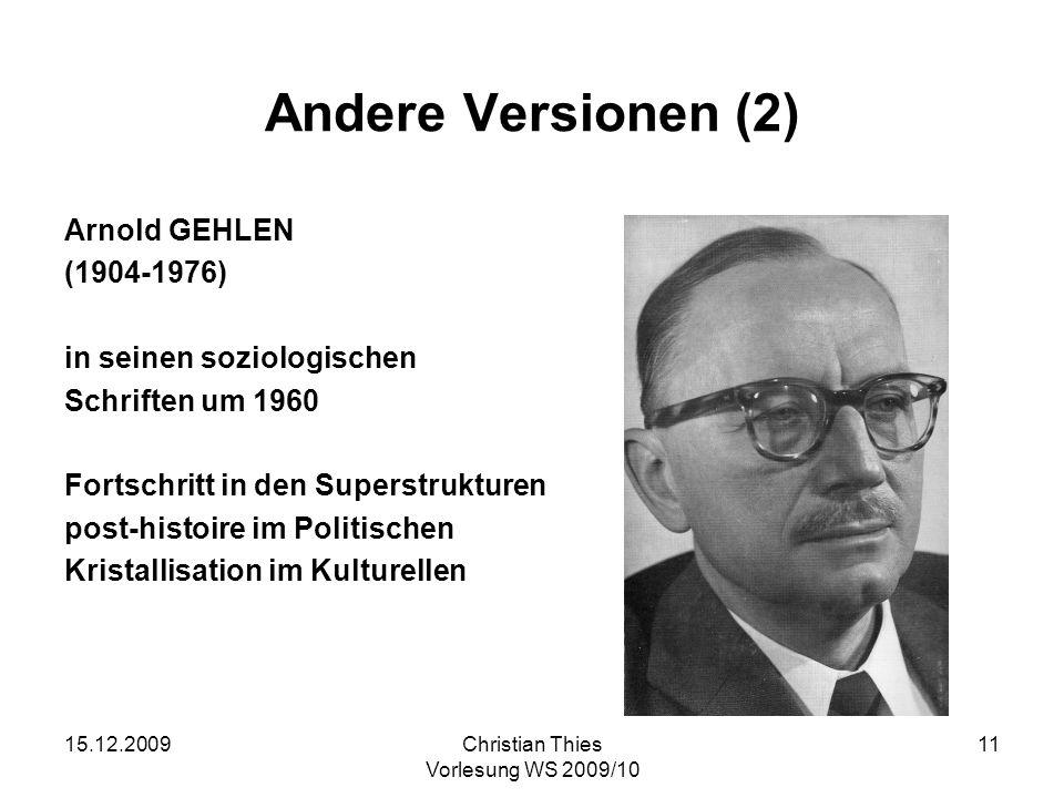 Andere Versionen (2) Arnold GEHLEN (1904-1976)