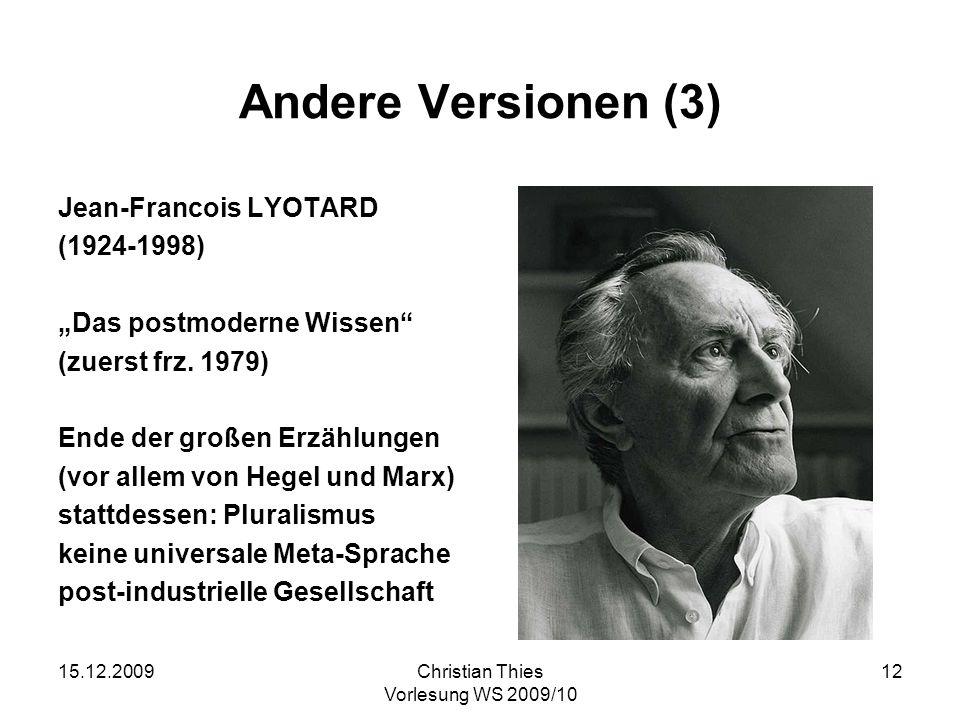 Andere Versionen (3) Jean-Francois LYOTARD (1924-1998)