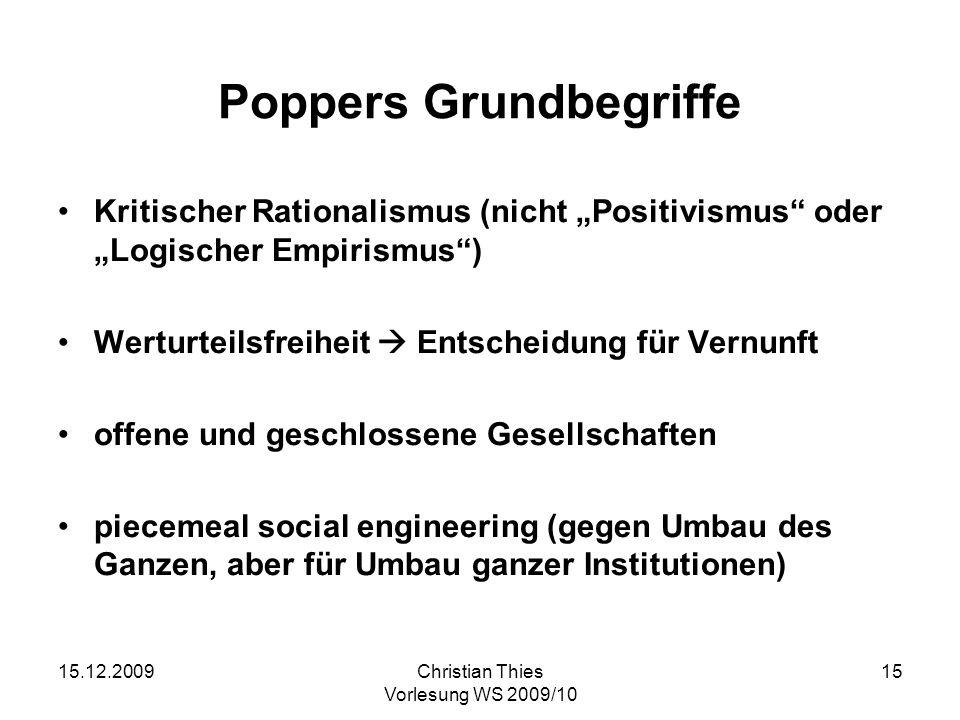 Poppers Grundbegriffe