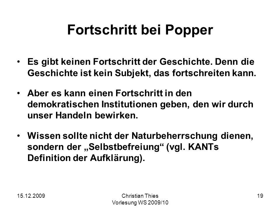 Fortschritt bei Popper