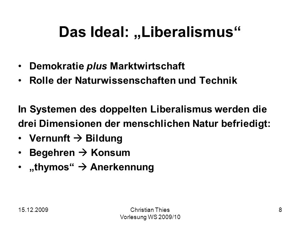 "Das Ideal: ""Liberalismus"