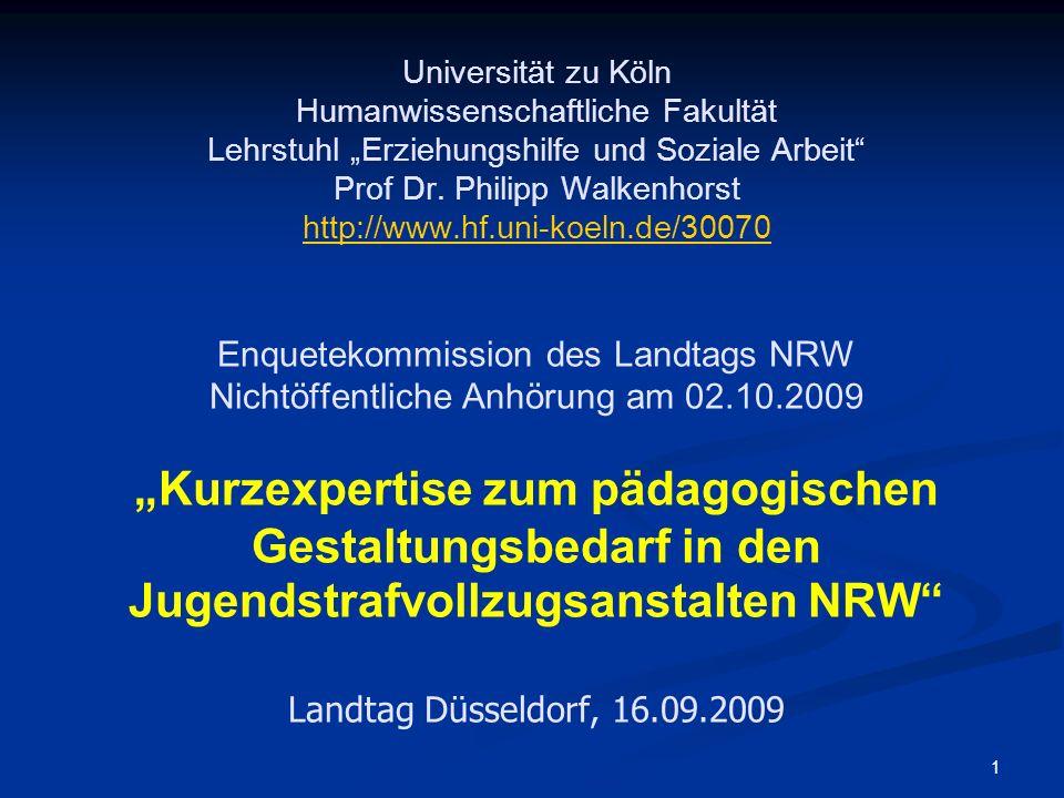 """Universität zu Köln Humanwissenschaftliche Fakultät Lehrstuhl """"Erziehungshilfe und Soziale Arbeit Prof Dr."""