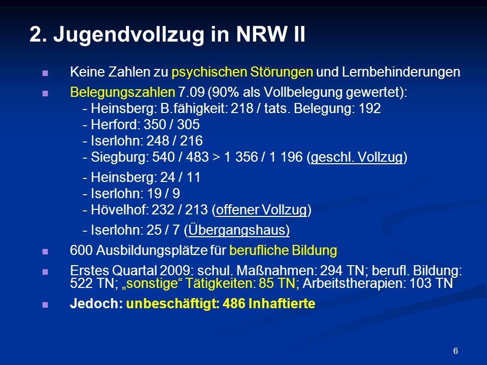 2. Jugendvollzug in NRW II