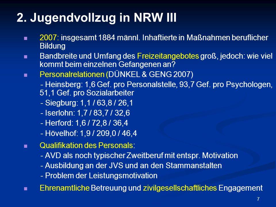2. Jugendvollzug in NRW III