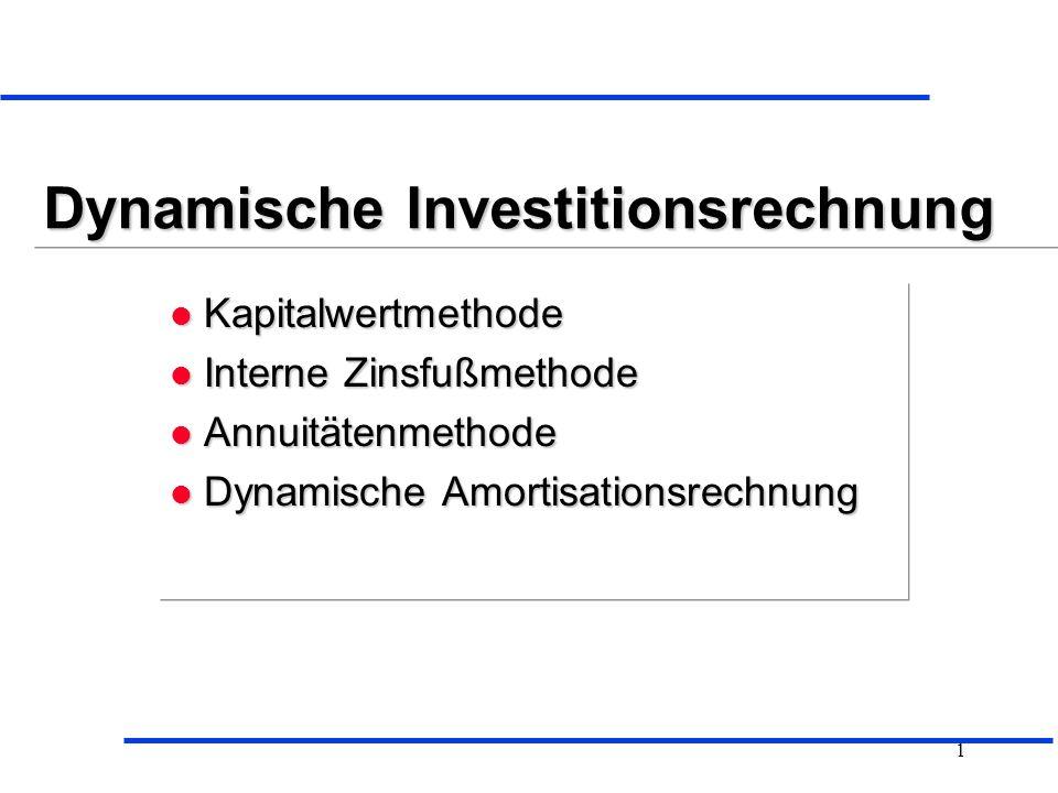 Dynamische Investitionsrechnung