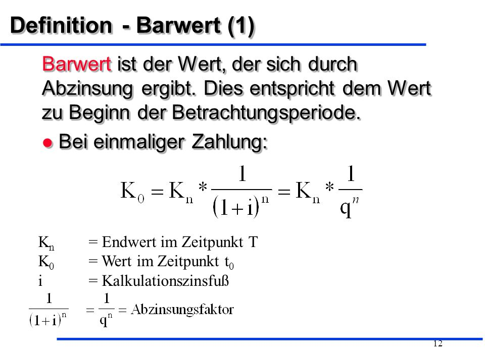 Definition - Barwert (1)