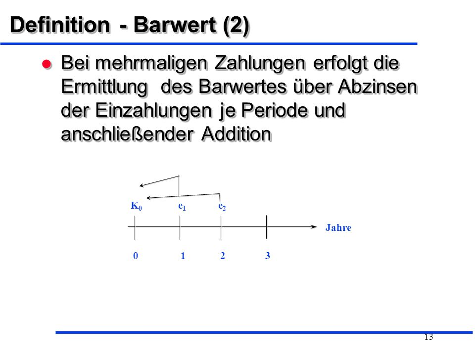 Definition - Barwert (2)