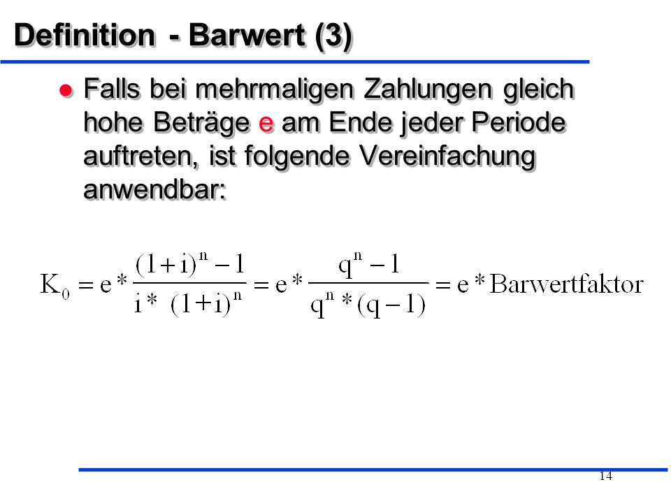 Definition - Barwert (3)